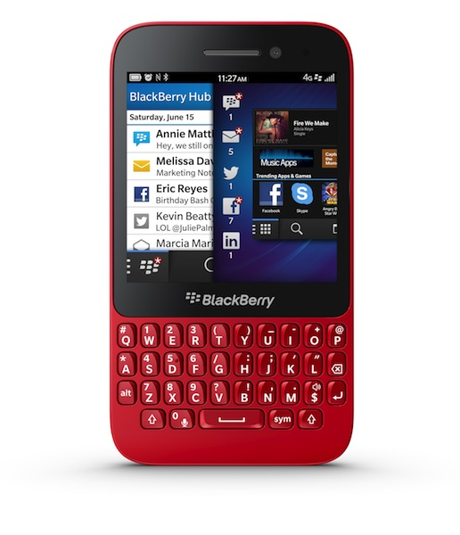 BlackBerry Q5 Smartphone - red