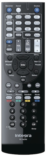 Integra Research RC-867m Remote Control