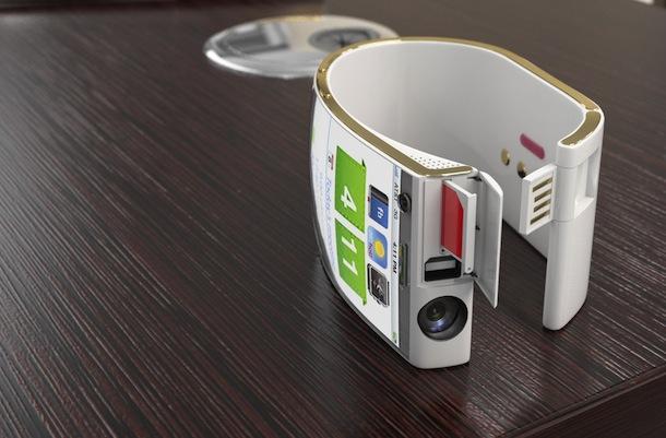 Emopulse Smile Bracelet Smartphone on desk