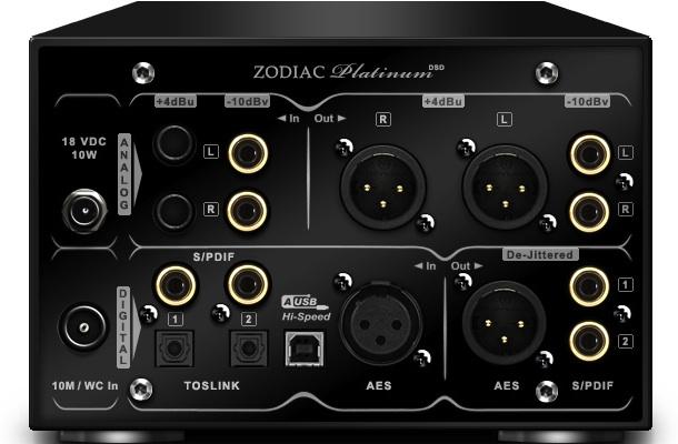 Antelope Audio Zodiac Platinum DAC - back