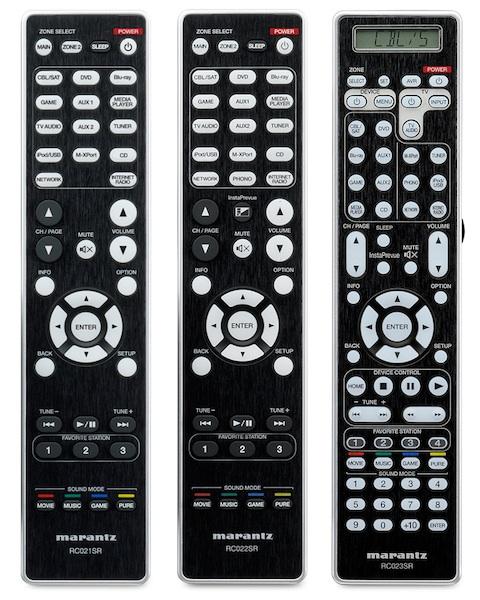 Marantz SR Series Remote Controls - RC021SR RC022SR RC023SR