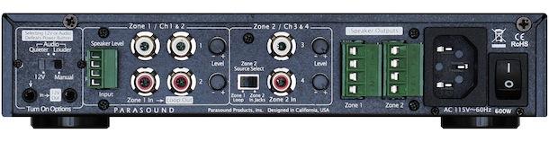 Parasound Zamp Quattro Four Channel Amplifier - back