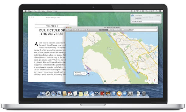 Apple OS X Mavericks - iBooks and Maps