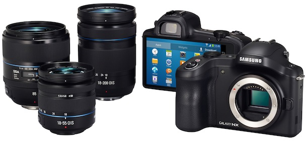 SAMSUNG GALAXY NX - lenses