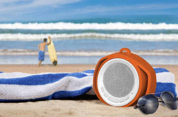 BlueFlame Slingshot Bluetooth Speaker on beach