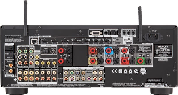 Integra DTR-40.5 A/V Receiver - back