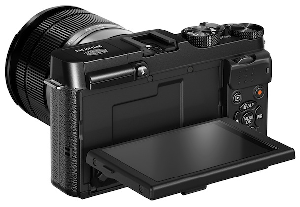 FujiFilm X-M1 Digital Camera - back tilt
