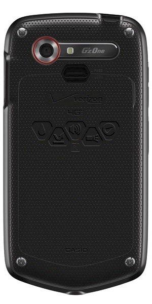 Casio G'zOne Commando 4G LTE Smartphone - back
