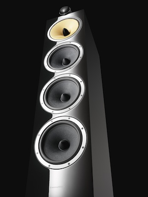 Bowers & Wilkins CM10 Floorstanding Speaker - gloss black
