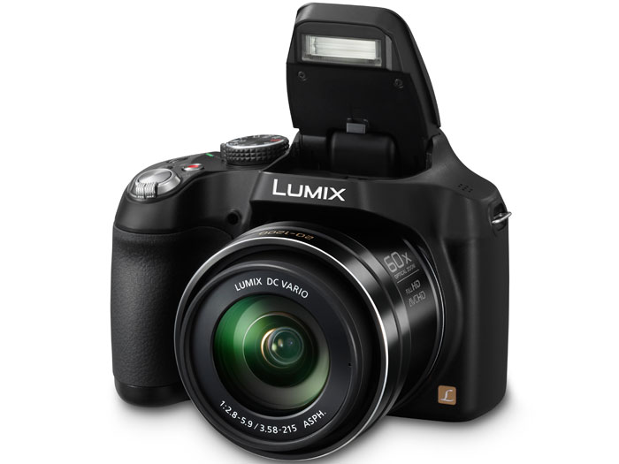 Panasonic LUMIX DMC-FZ70 Digital Camera with flash up
