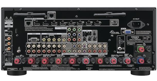 Integra DTR-60.5 THX Ultra2 Plus Certified AV Receiver back