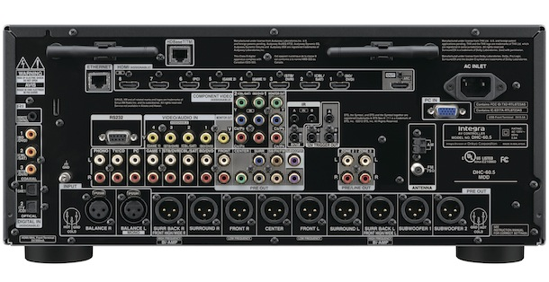 Integra DHC-60.5 THX Ultra2 Plus Certified AV Processor back