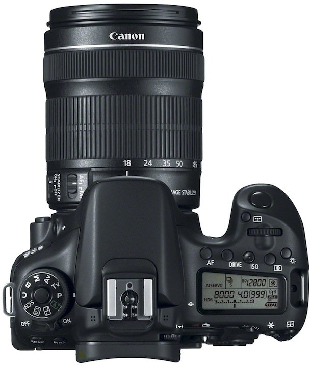 Canon EOS 70D Digital SLR Camera top