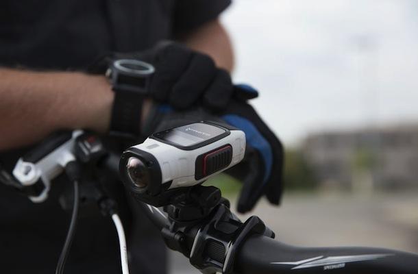 Garmin Virb Elite HD Action Camera on bike