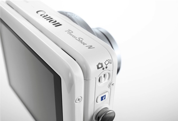 Canon PowerShot N Facebook Ready Digital Camera Back