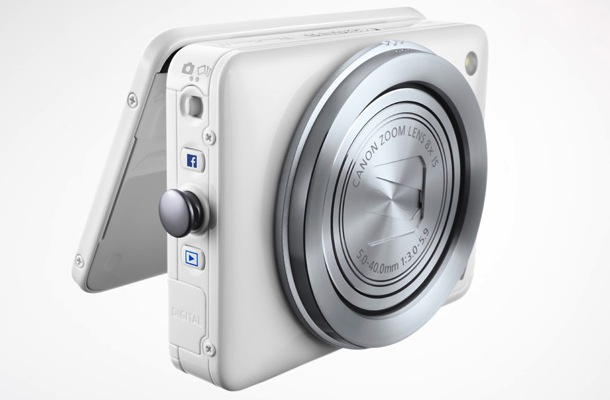Canon PowerShot N Facebook Ready Digital Camera White
