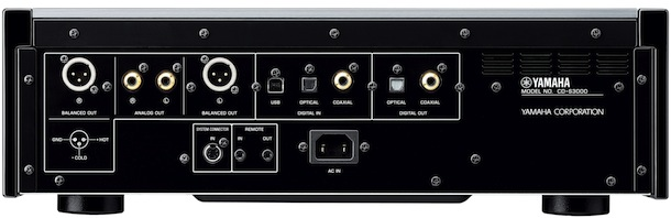 Yamaha CD-S3000 SACD Player Back