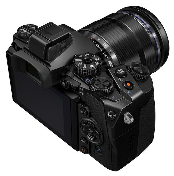 Olympus OM-D E-M1 Digital Camera Top Angle View