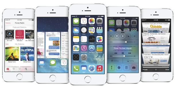 Apple iOS7 on iPhone 5s