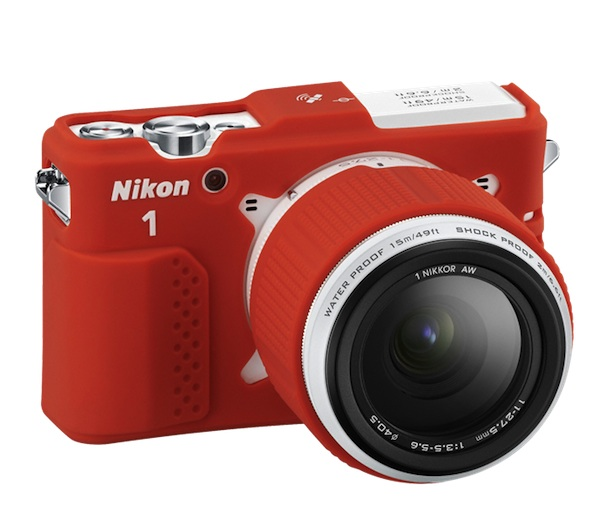 Nikon 1 AW1 with red case