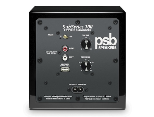 PSB SubSeries 100 Subwoofer Back