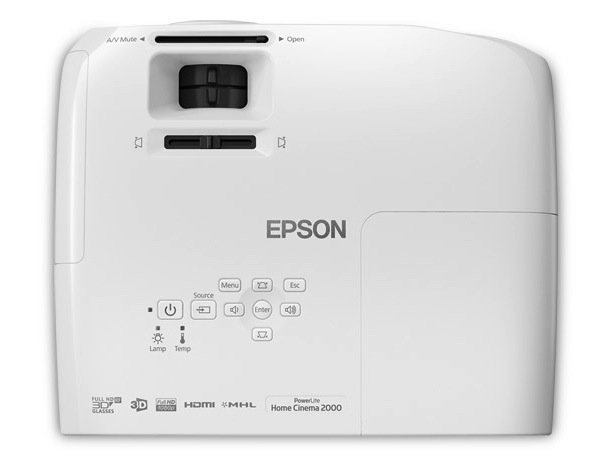 Epson PowerLite Home Cinema 2000 3LCD Projector Top