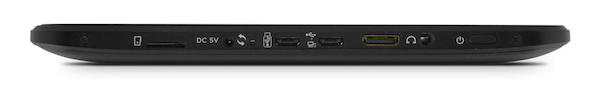 Ematic EGS102 Tablet Ports