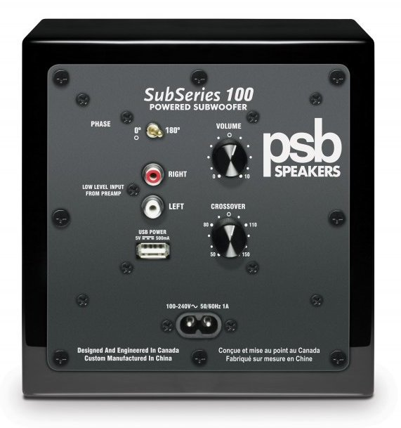 PSB Alpha SubSeries 100 Subwoofer Rear