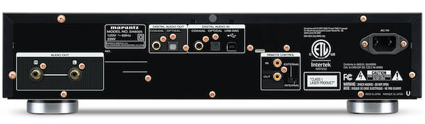 Marantz SA8005 SACD Player Back