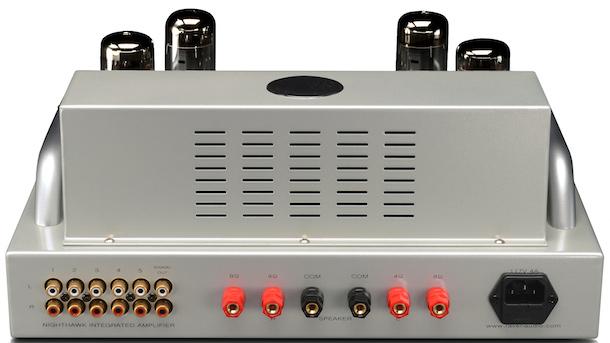 Raven Audio Nighthawk Integrated Tube Amplifier Rear