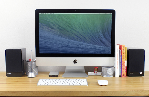 Satechi AirBass Active Bluetooth Speakers with iMac