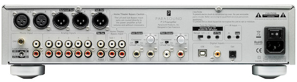 Parasound Halo P5 Stereo Preamplifier Back
