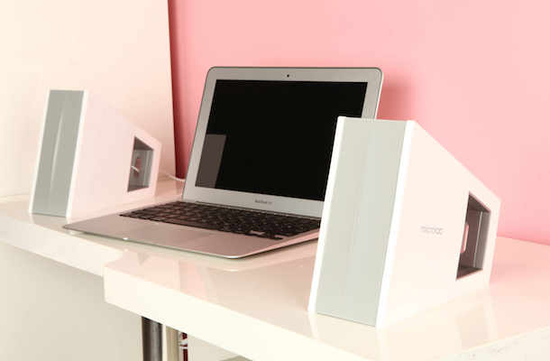 Microlab FC10 Triangle Speaker System with Macbook Air