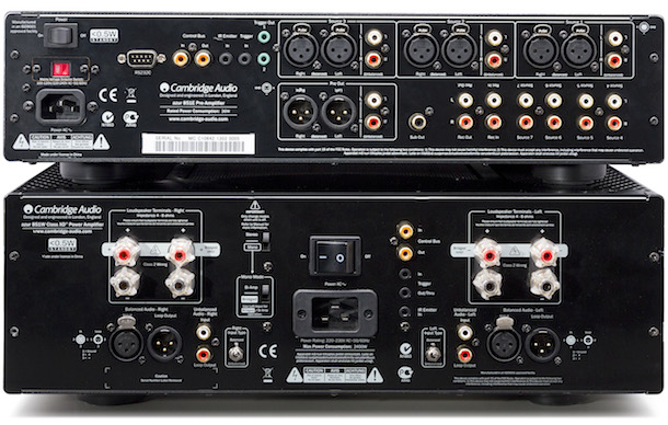 Cambridge Audio Azur 851E Preamplifier and 851W Power Amplifier Rear