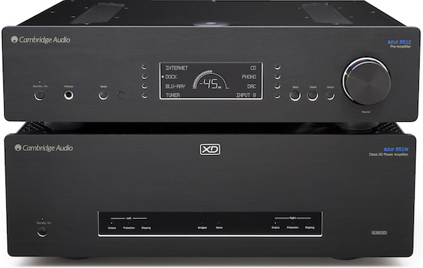 Cambridge Audio Azur 851E Preamplifier and 851W Power Amplifier