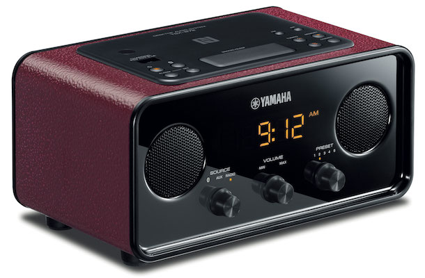 Yamaha TSX-B72 Bluetooth Clock Radio Red