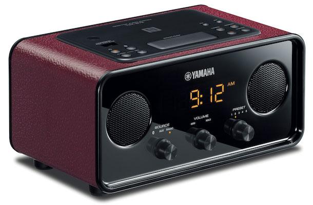 Yamaha TSX-B72 Bluetooth Clock Radio Red