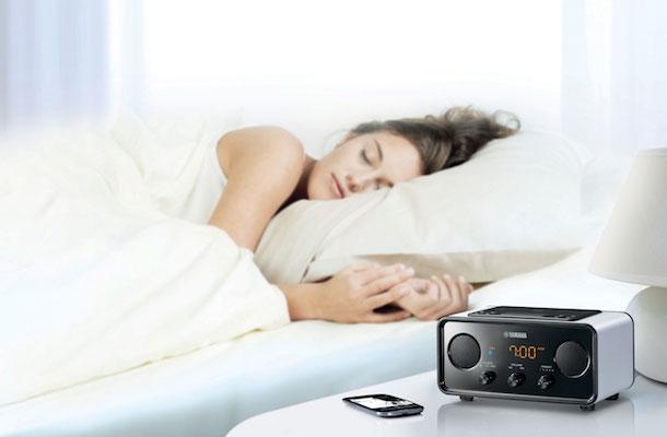 Yamaha TSX-B72 Bluetooth Clock Radio White
