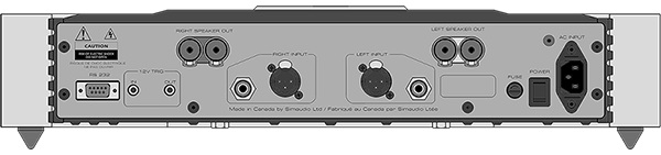 Simaudio Moon 760A Power Amplifier Back