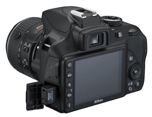 Nikon D3300 Back Angle
