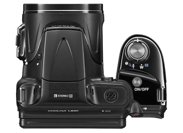 Nikon COOLPIX L830 Digital Camera Top Black
