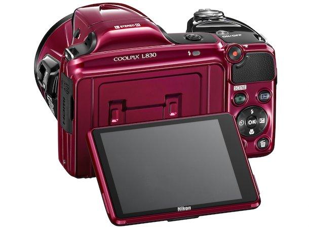 Nikon COOLPIX L830 Digital Camera Back in Red