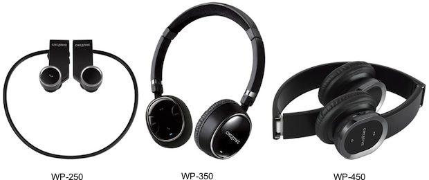 "7ec95edeea7 Creative Technology announced the Creative WP-250, WP-350 and WP-450  Bluetooth music listening and voice communication headphones with  ""invisible mic""."
