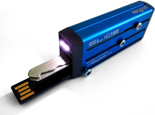 Keyport Slide Usb Keychain With Mini Led Light Ecoustics Com
