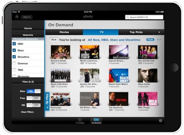 Comcast Xfinity Tv App For Ipad Ecoustics Com