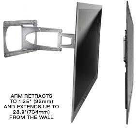 Peerless Suac9000 Ultra Slim Articulating Wall Mount