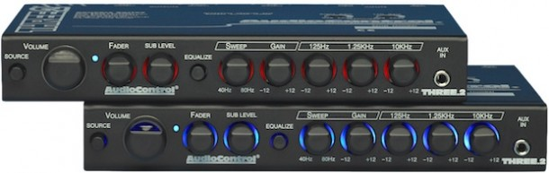 audiocontrol three 2 in dash eq processor. Black Bedroom Furniture Sets. Home Design Ideas