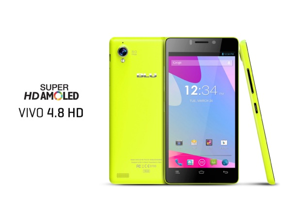 BLU PRODUCTS VIVO 4.8 HD Yellow