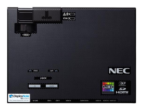 NEC NP-L102W LED Mobile Projector Top