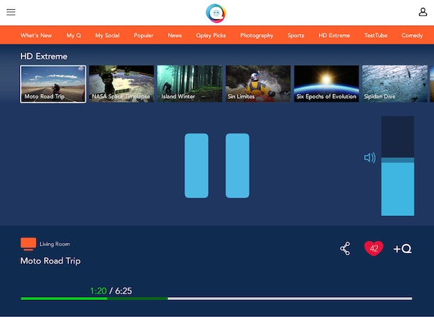Qplay second screen